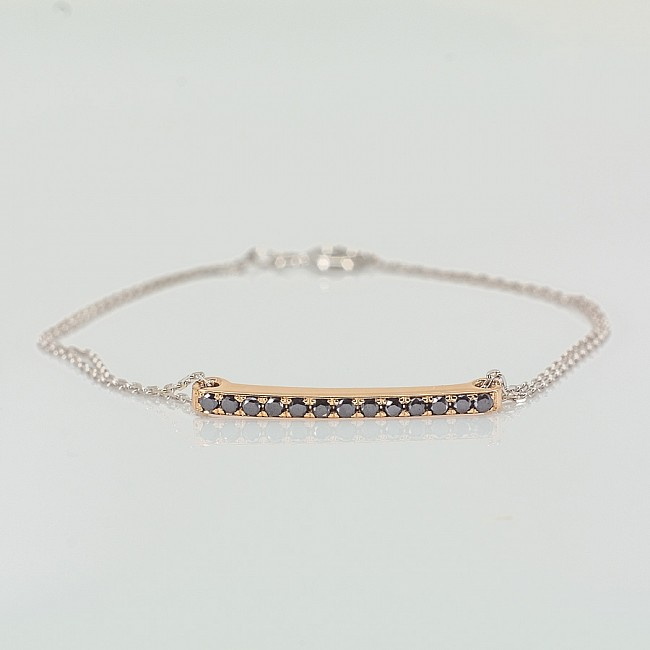 Bracelet from Gold or Platinum with Black Diamonds br1365dn