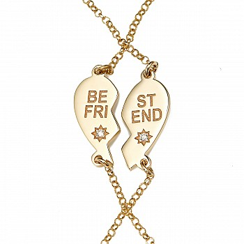 Set Bratara br1978 din Aur cu Diamante Best Friend