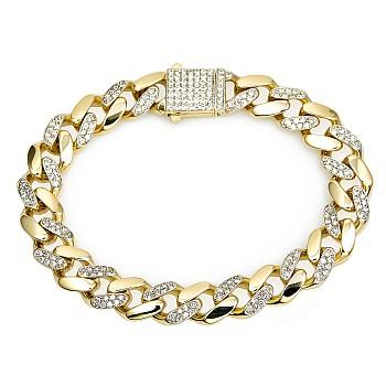 Bratara unisex br2831 din Aur cu Diamante