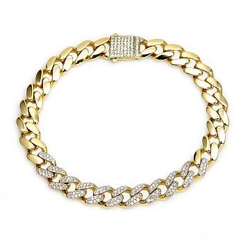 Bratara unisex br2871 din Aur cu Diamante