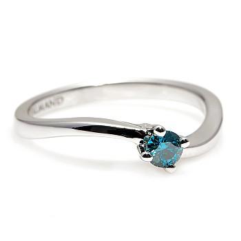 Inel de logodna i001Db din Aur sau Platina cu Diamant Albastru