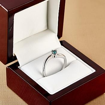 Inel de logodna i001db din Aur cu Diamant Albastru