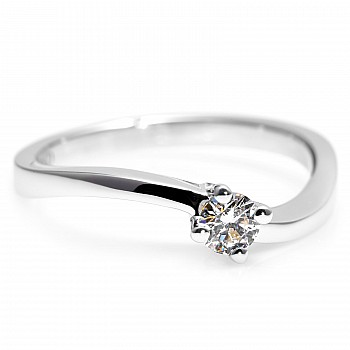 Engagement ring i001 with Diamond from Gold or Platinum