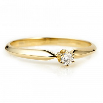Engagement Ring i009 with Diamond from Gold or Platinum