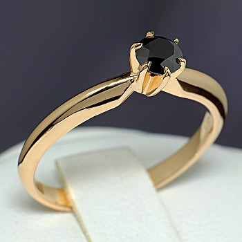 Engagement Ring i012Dn with Black Diamond from Gold or Platinum