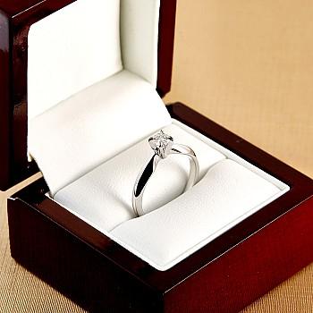 Inel de logodna i017p4 din Aur sau Platina cu Diamant - GIA