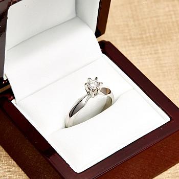 Inel de logodna i017p6 din Platina cu Diamant