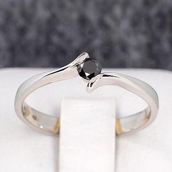 Inel de logodna i060Dn din Aur sau Platina cu Diamant Negru