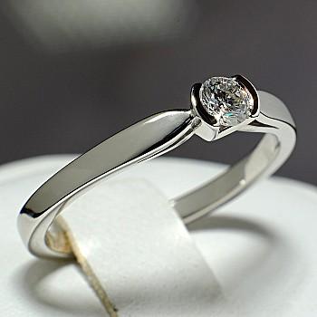 Inel de logodna i114 din Aur sau Platina cu Diamant - GIA