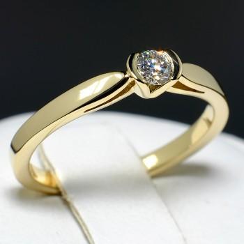 Inel de logodna i114 din Aur sau Platina cu Diamant