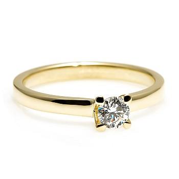 Inel de logodna i122005 din Aur sau Platina cu Diamant Incolor