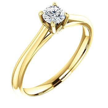 Inel de logodna i122047 din Aur sau Platina cu Diamant - GIA