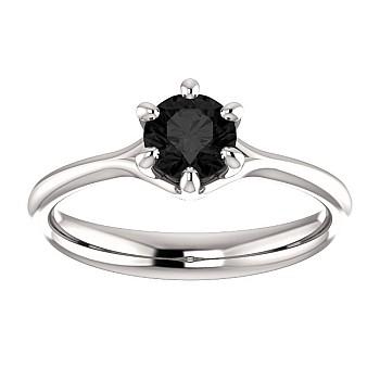Inel de logodna i122118Dn din Aur sau Platina cu Diamant Negru