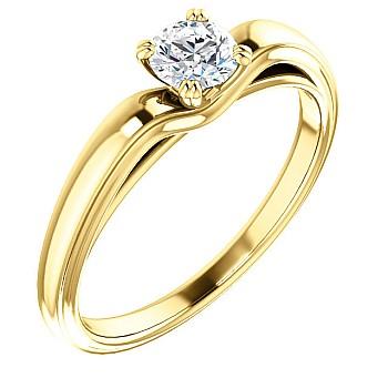 Inel de logodna i122278 din Aur sau Platina cu Diamant Incolor - GIA