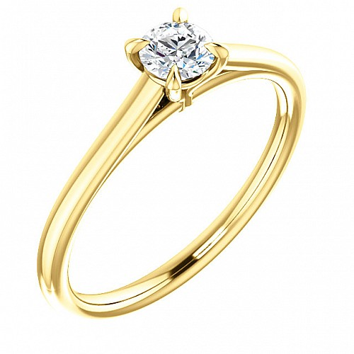 Gold or Platinum engagement ring with Diamond 122969