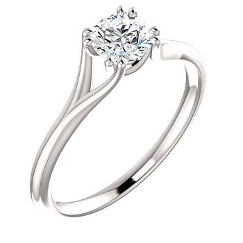 Inel de logodna din Platina cu Diamant p123016 - GIA 0.30ct D-VVS1