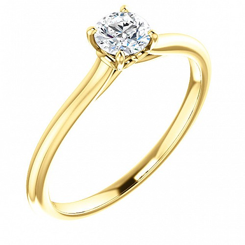 Gold or Platinum engagement ring with Diamond 123060