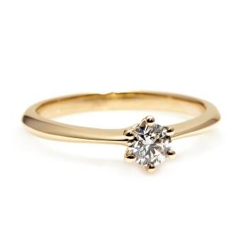 Inel de logodna model Tiffany i168 din Aur Galben cu Diamant