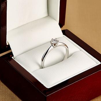 Inel de logodna i168 model Tiffany din Aur cu Diamant