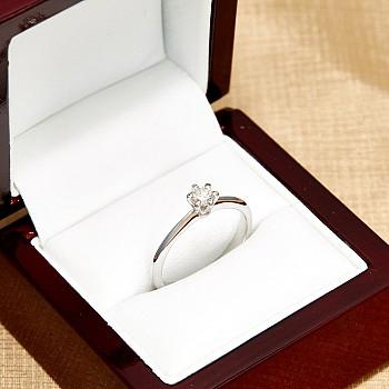 Inel de logodna model Tiffany i1450 din Aur sau Platina cu Diamant - GIA