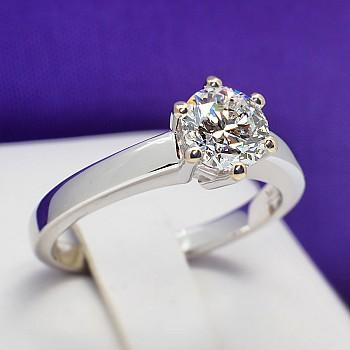 Inel de logodna i1862 din Aur sau Platina cu Diamant