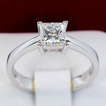 Inel de logodna i1908dip din Aur sau Platina cu Diamant