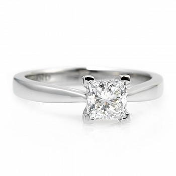 Inel de logodna i2165dip din Aur sau Platina cu Diamant Princess