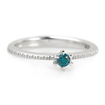 Inel de logodna i220db din Aur sau Platina cu Diamant Albastru