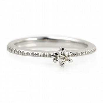 Inel de logodna i220  din Aur sau Platina cu Diamant