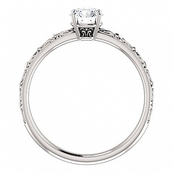 Inel de logodna i71618 din Aur sau Platina cu Diamant Incolor - GIA