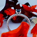 Gold or Platinum engagement ring with Blue Diamond 71626DB