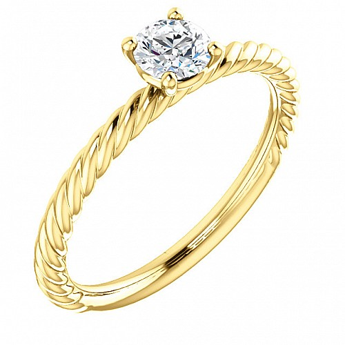 Gold or Platinum engagement ring with Diamond 71626