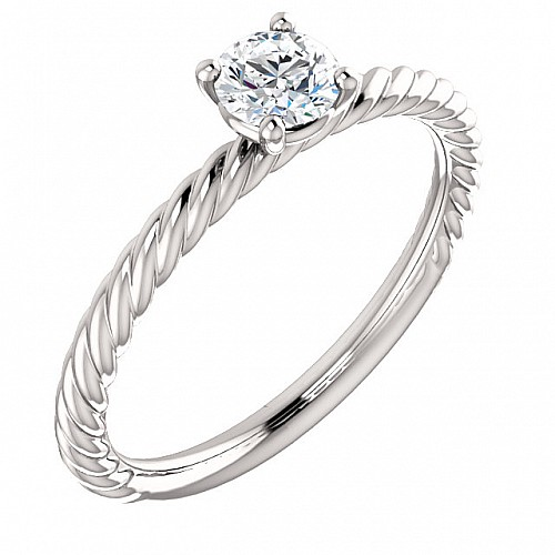 Gold engagement ring with 0.12ct Diamond i71626