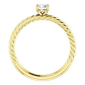 Inel de logodna i71626 din Aur sau Platina cu Diamant Incolor - GIA