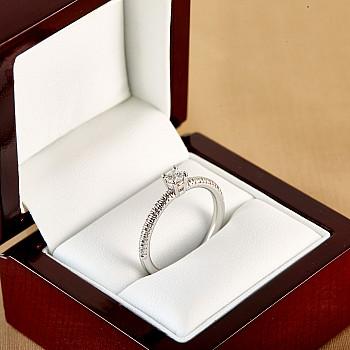 Inel de logodna i71648 din Aur cu Diamant Incolor