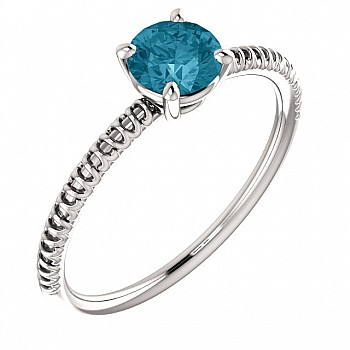 Inel de logodna i71648DB din Aur sau Platina cu Diamant Albastru