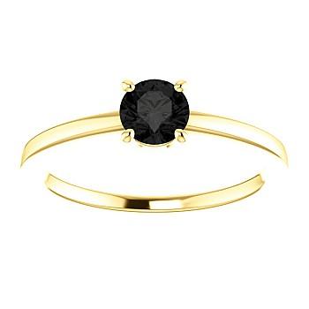 Inel de logodna i71863dn din Aur sau Platina cu Diamant Negru