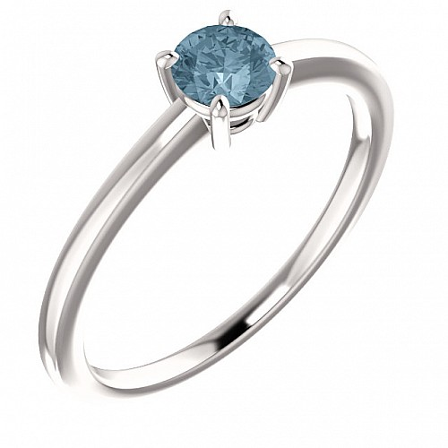 Gold or Platinum engagement ring with Blue Diamond i71863DB