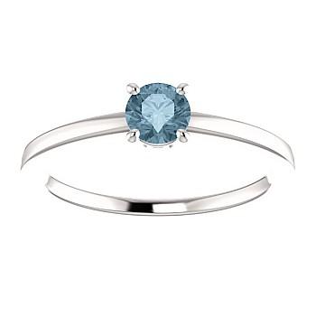 Inel de logodna i71863DB din Aur sau Platina cu Diamant Albastru