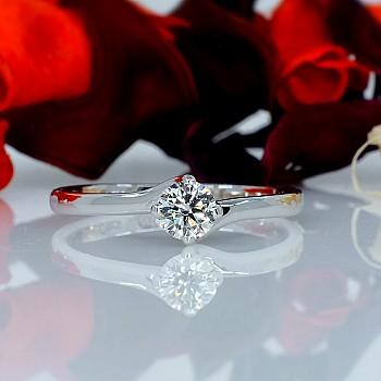 Inel de logodna din Platina cu Diamant p786 - GIA 0.50ct F-SI2