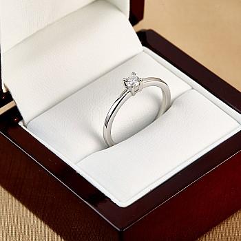 Inel de logodna i71863  din Aur sau Platina cu Diamant Incolor