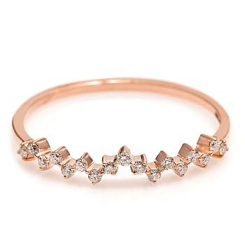 Inel Trendy s005 din Aur cu Diamante