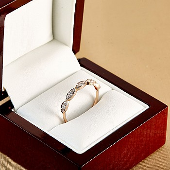 Inel Trendy s015 din Aur cu Diamante
