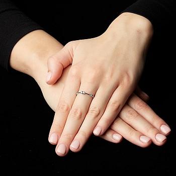 Inel Trendy s043 din Aur cu Diamante