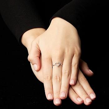 Inel Trendy s096 din Aur sau Platina cu Diamante