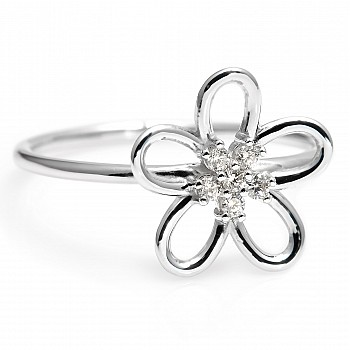 Trendy Gold ring with natural diamonds s230