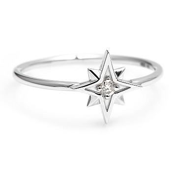 Inel Trendy s274 din Aur sau Platina cu Diamant Natural