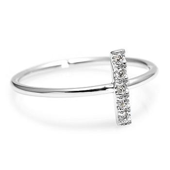 Inel Trendy s287 din Aur sau Platina cu Diamante Naturale