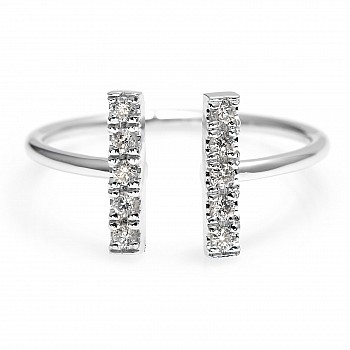 Inel Trendy s289 din Aur cu Diamante Naturale