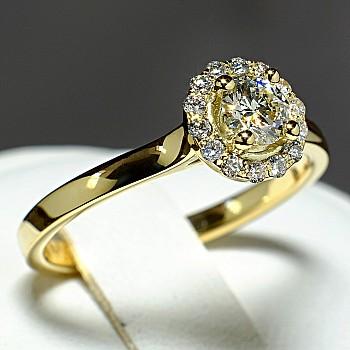 Inel de logodna i122060DiDi din Aur sau Platina cu Diamante - GIA